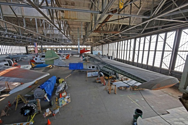 Interior of HARP Hanger B -- photo by Joe May