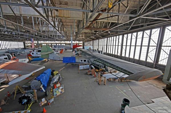 Interior of HARP Hanger B -- photo by Joe May