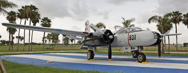Douglas B-26 Invader at the Bay of Pigs Memorial -- photo by Joe May