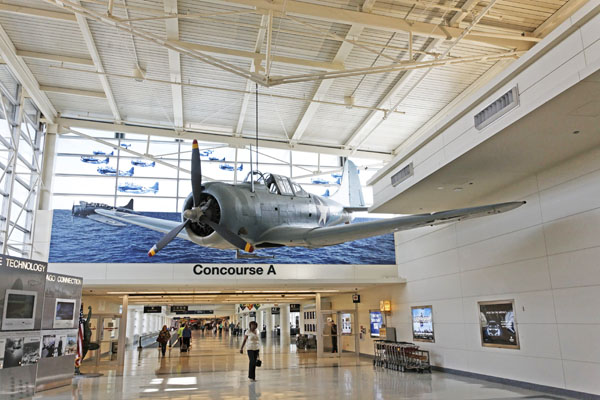 Douglas SBD Dauntless of the Battle of Midway Memorial at Chicago's Midway Airport -- photo by Joe May