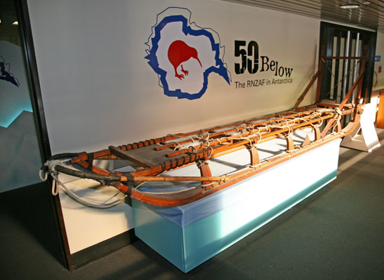 Sled on display at the Air Force Museum of New Zealand photo by Joe May