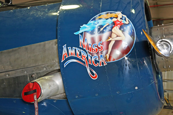 North American SNJ nose art -- photo by Joe May