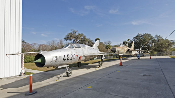 Lineup! Mikoyan-Gurevich MiG-21, Republic F-105 Thunderchief and McDonnell-Douglas F-4 Phantom II photo by Joe May