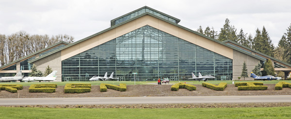 Evergreen Aviation & Space Museum from the highway photo by Joe May