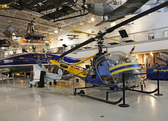A few of Hiller's helos — photo by Joe May