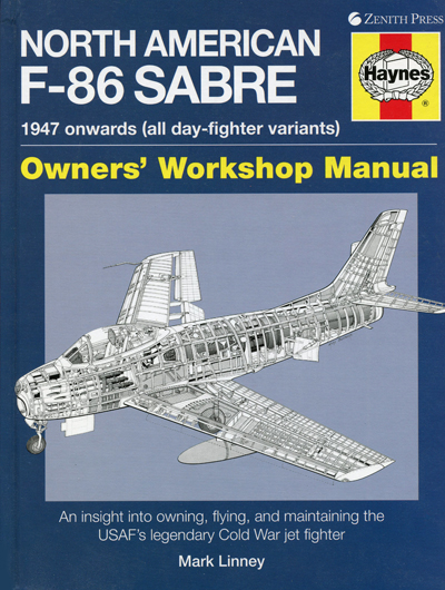 North American F-86 Saber, cover drawing Mike Badrocke