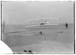 First flight under power and under control!  — Library of Congress photo  taken by the Wright Brothers and John T. Daniels