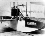 Tony Jannus (right) and paying passenger — State Archives of Florida photo