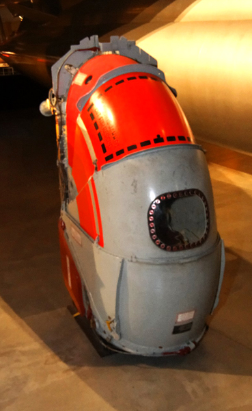 B-58 Hustler escape pod, one each for each of the three flight crew members — photo by Joseph May