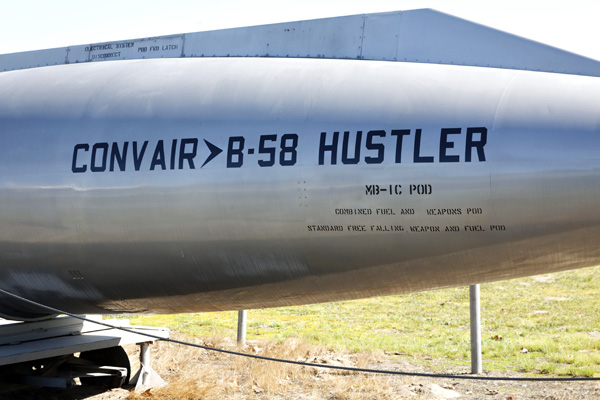 Detail of the B-58 Hustler pod pictured above — photo by Joseph May