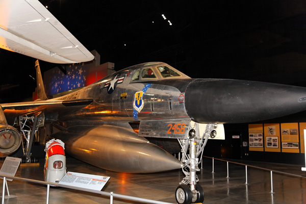 Bendix Trophy winning Convair B-58 Hustler displayed in the National Museum of the USAF — photo by Joseph May