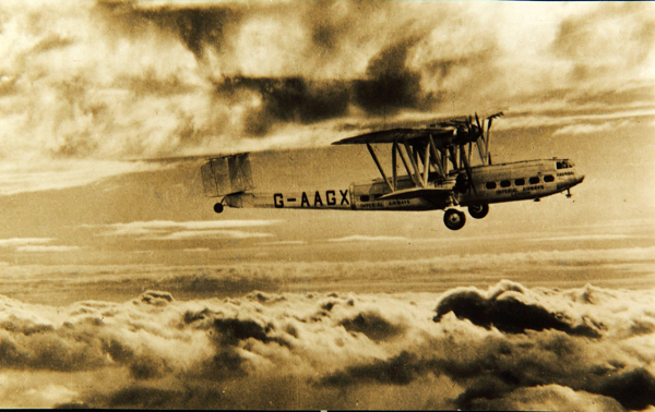 Hannibal in flight — photo from San Diego Air & Space Museum archive