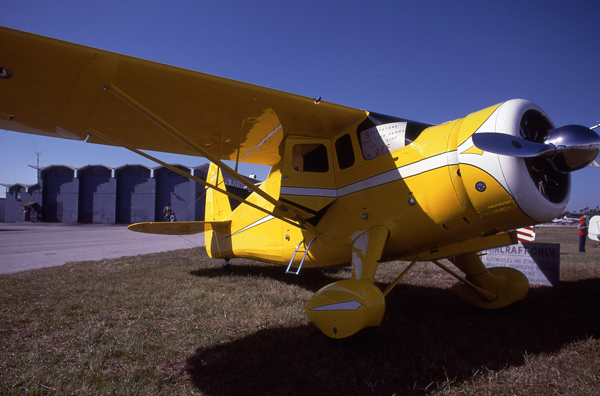 Howard Aircraft DGA-15P at the Peter O. Knight airport in Tama on New Year's Day 1984 — photo by Joseph May