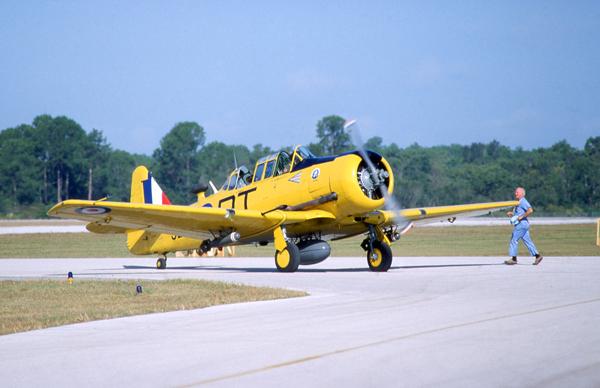 AT-6 as an RAF Harvard — photo by Joseph May