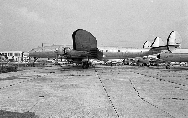 Lockheed Constellation and North American B-25 Mitchell — photo by Joseph May