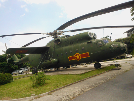 "Mil Mi 6 (NATO reporting name ""Hook"") at the Air Defense – Air Force Museum in Hanoi — photo by Catherine Dowman ©2013"