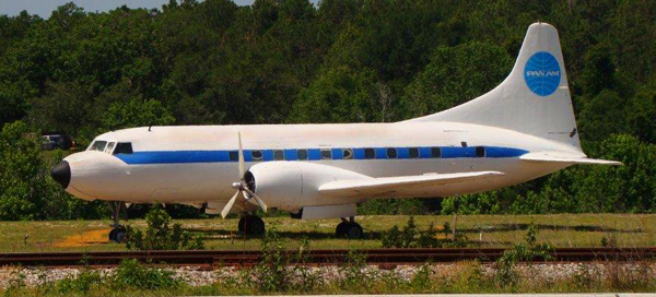 Convair 240 at the developing U.S. Airline Industry Musuem — photo provided by Steve Krupa ©2013