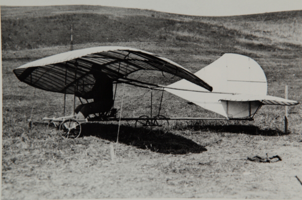 John J. Montgomery in the Evergreen Glider — photo from the San Diego Air & Space Museum archive