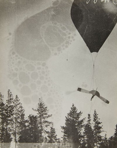 John J. Montgomery glider ballon launch — photo from the San Diego Air & Space Museum archive