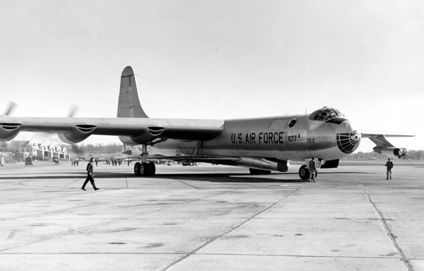 B-36 transporting XB-58 airframe — U.S. Air Force photo