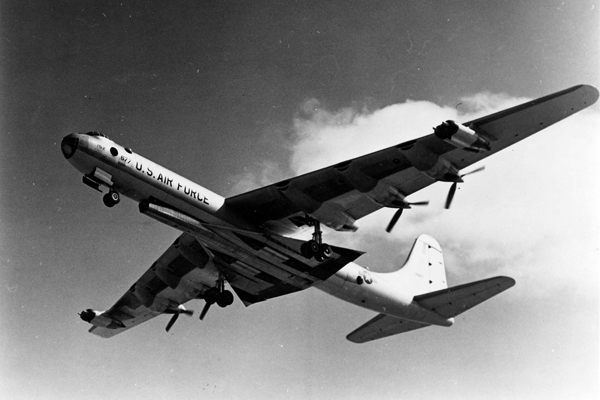 B-36 transporting XB-58 airframe — U.S. Air Force photo