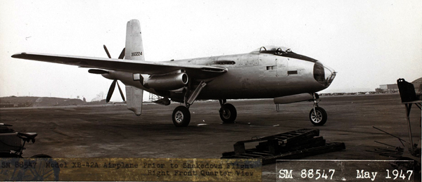 Douglas XB-42A Mixmaster — San Diego Air & Space Museum photo from the Charles M. Daniels Collection