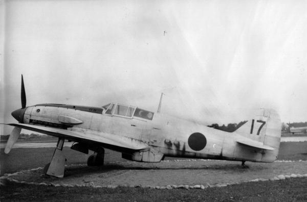 "Kawasaki Ki-61 Hein ""Tony"" — San Diego Air & Space Museum photo from the Charles M. Daniels Collection"