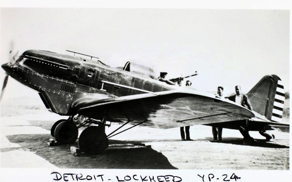 Lockheed YP-24 — San Diego Air & Space Museum archive photo