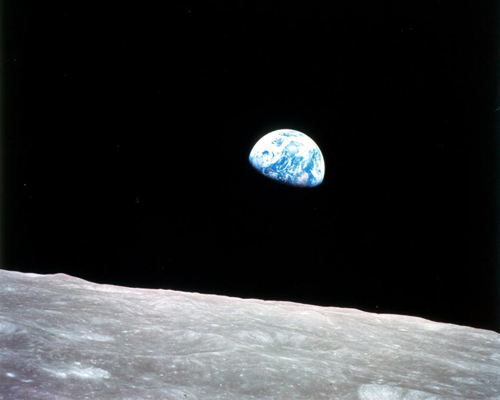 """Earthrise"" from Apollo 8 — NASA photo"