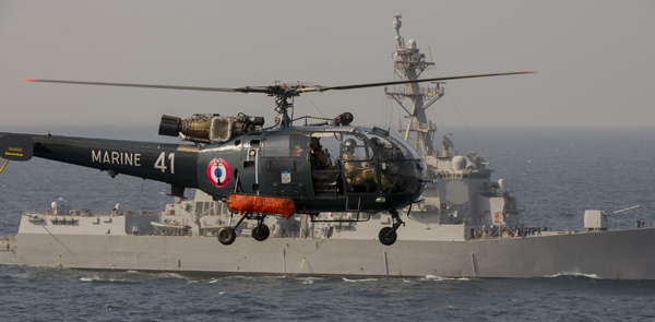 Alouette III — French Chief Petty Officer Frederic Duplouich photo provided by the U.S. Navy