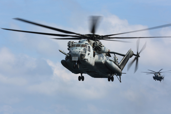 CH-53E — Mass Comm Spec Tommy Lamkin photo provided by the U.S. Navy