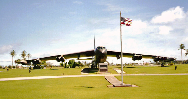 B-52D at the Arc Light Memorial at Andersen AFB, — photo provided by Looper5920 via Wikipedia