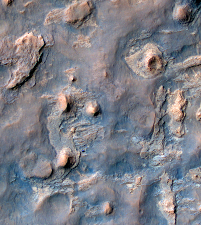Tracks of Rover Curiosity on Mars April 2014 — NASA Mars Orbiter photo