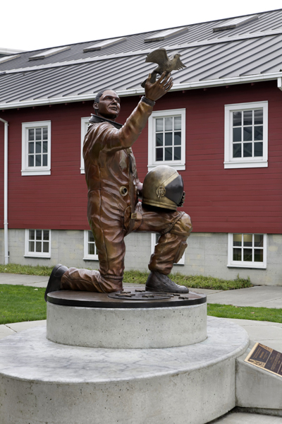 Michael P. Anderson Memorial Statue — photo by Joseph May