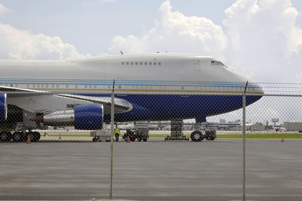 VP-BLK the Las Vegas Sands B-747SP — photo by Joseph May