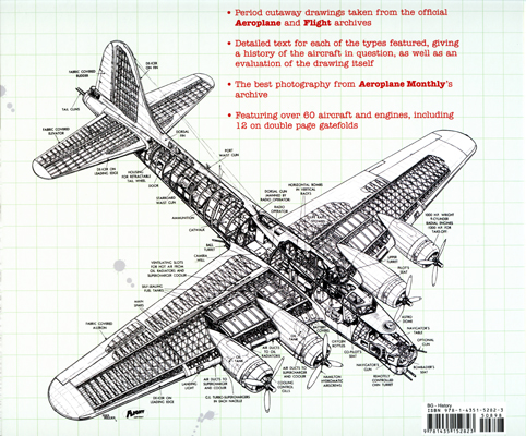 Classic World War II Aircraft Cutaways (backcover) by Bill Gunston with cutaway drawing by Max Millar
