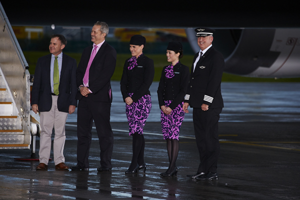 Air New Zealand's first Boeing B- 787 Dreamliner — photo courtesy of Air New Zealand