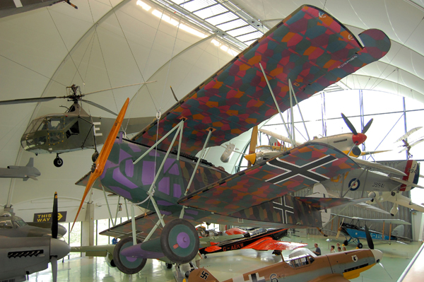 Fokker D.VIIa at the RAF Museum London — used with permission of Ross Sharp (and copyright holder)