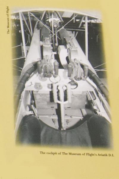 Aviatik D.I cockpit — Museum of Flight photo