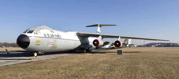 """The C-141 Starlifter known as the """"Hanoi Taxi"""" at the National Museum of the U.S. Air Force — photo by Joseph May"""
