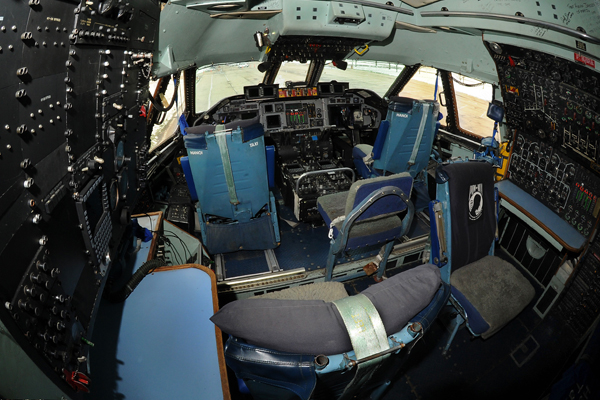 The Hanoi Taxi's cockpit — USAF photo by TSgt Lance Cheung