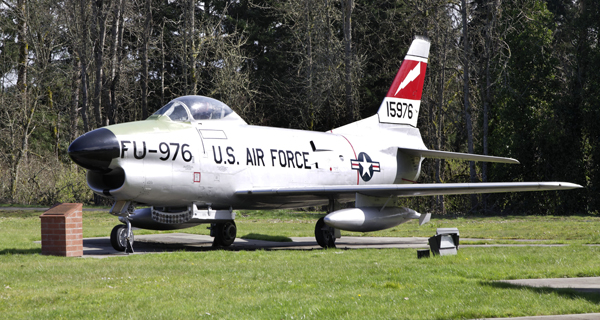 North American F-86D Sabre at McChord Air Museum & Heritage Hill Air Park — photo by Joseph May