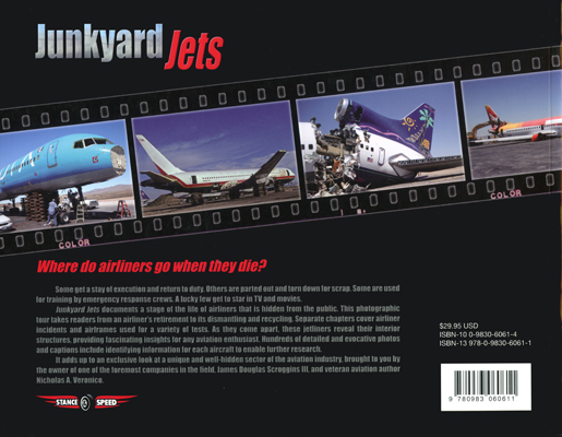 Junkyard Jets by James Douglas Scroggins III and Nicholas A. Veronico (back cover)