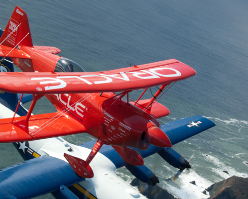 The rare Oracle Challenger III purpose built for aerobatics — U.S. Navy photo by Mass Comm Spec 3rd Class Andrew Johnson