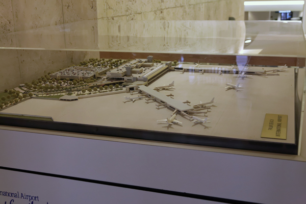 PBI diorama showin the McCampbell (Main) Terminal as well as Airsides B and C — photo by Joseph May