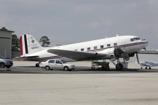 DC-3 at Charlotte County Airport — photo by Joseph May