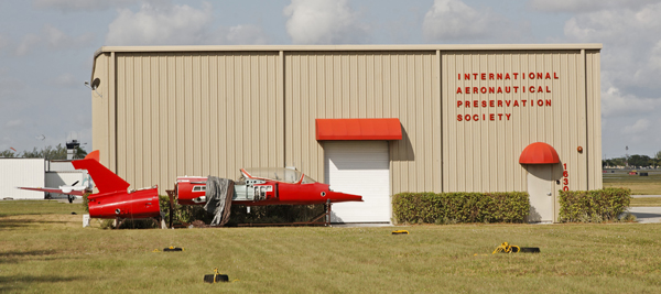 Evidence of a person on a mission, we hope, with a Fouga Magister fuselage in the foreground — photo by Joseph May