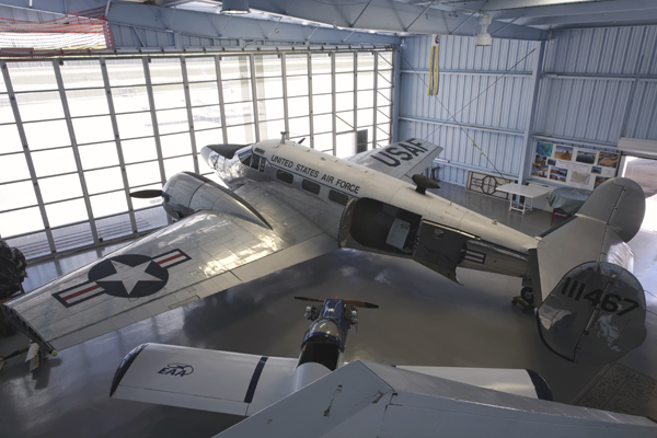 Beechcraft C-45 Exp[editor at the EAA Chapter 1241 Air Museum — photo by Joseph May