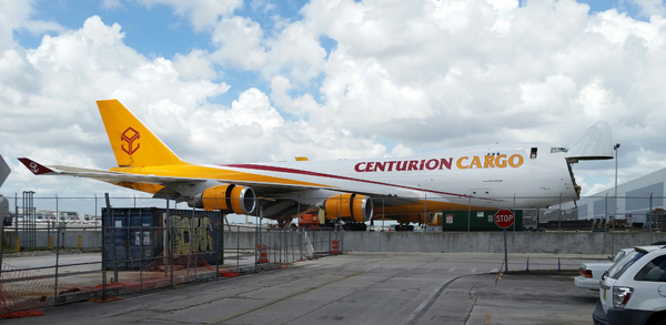 Centurion Cargo Boeing B 747-400 ERF — photo by Joseph May