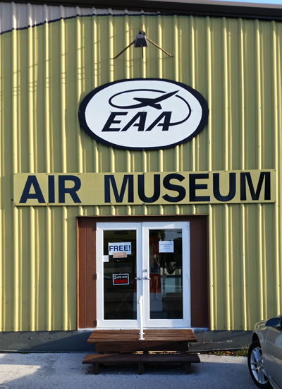 EAA Chapter 1241 Air Museum's main entry — photo by Joseph May